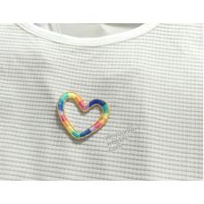 原若 森《彩虹刺繡貼 心型款》