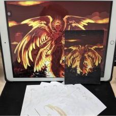 速水《晨曦森林 天使阿茲(銀絲膜)明信片》