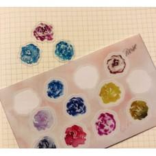 亞海《水彩玫瑰手帳貼紙》