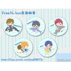 小羽 Free!4.4亮面胸章SET