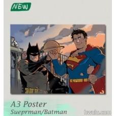 Silent《A3 poster Superman/Batman》