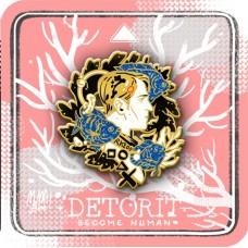MoMA!Bee《底特律DBH康納海鮮湯金蔥金屬徽章(金)》