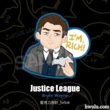 Narian《正義聯盟》蝙蝠俠/布魯斯款壓克力別針