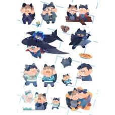 夏川《超蝙2021桌曆貼紙-A款》