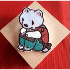 天然嫣《熊 刺繡徽章》